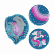 SCOUT FUNNY SNAPS 3ER SET DOLPHINS