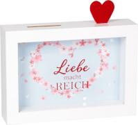 Bilderrahmen-Spardose Liebe ... (Just married)