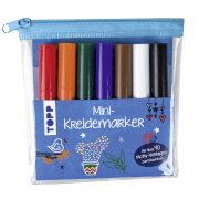 Mini-Kreidemarker Set blau