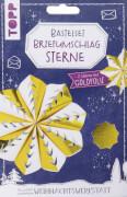 Briefumschlag-Sterne Gold