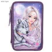 FANTASYModel 3-Fach Federtasche Wolf LED