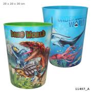 Dino World Papierkorb