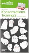 miniLÜK Konzentrationstraining 2 (Überarbeitet), Lernheft, 29 Seiten, von 5 - 7 Jahren
