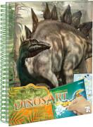 Dino Stickern nach Zahlen