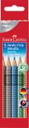 Faber-Castell Buntstift Jumbo Grip Metallic 5er-Etui
