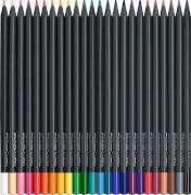 Faber-Castell Buntstifte Black Edition 24er Kartonetui