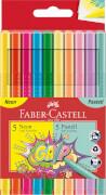 Faber-Castell Grip Filzstift Neon + Pastell 10er Etui
