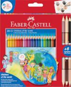 Faber-Castell Children of the world 20+3 Colour Grip