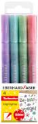 Eberhard Faber Textmarker Glitter Pastell 4er Etui