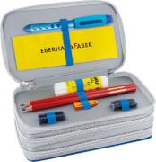 Eberhard Faber Triple Decker Glitter dunkelblau 34tlg