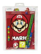 Super Mario Schreibset, 7-teilig