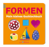 Ars Edition - Mein kleines Gucklochbuch: Formen, Pappbilderbuch, 12 Seiten, ab 1 - 3 Jahren
