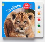 Ars Edition - Was hörst du hier? Zootiere. Pappbilderbuch, 12 Seiten, ab 1-3 Jahren