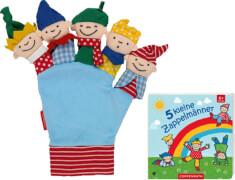 5 kleine Zappelmänner  Buch und Handschuh