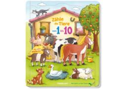 Zähle die Tiere von 1-10, Pappbilderbuch, 18 Seiten, ab 24 Monaten