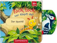 Mini-Pappe mit Schiebern: Tock, tock, wer klopft da?