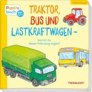 Traktor, Bus und Lastkraftwagen - kannst du dieses Fahrzeug sagen? Pappbilderbuch, 10 Seiten, ab 2 Jahren.