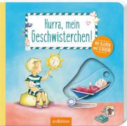 Ars Edition - Hurra, mein Geschwisterchen, Pappbilderbuch, ab 2 Jahren, 14 Seiten
