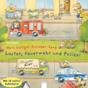 Arena Mein lustiger Schieber-Spaß - Laster, Feuerwehr und Polizei