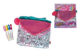 Color Me Mine - Tasche Glitter Couture Postal Bag inkl. 4 Stiften, ca. 24x30 cm, ab 6 Jahre