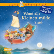 Lesemäuschen: Wenn alle Kleinen müde sind: Mein erstes Buch zum Vorlesen und Entdecken mit großem Ausklappbild, Pappbilderbuch,