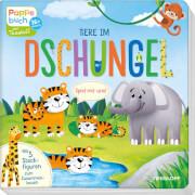 Spiel mit uns! Tiere im Dschungel, Pappbilderbuch, 10 Seiten, ab 3 Jahren.