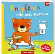 Knöpfchen geht aufs Töpfchen - Mein Spielebuch, Pappbilderbuch, 14 Seiten, ab 2 - 4 Jahre