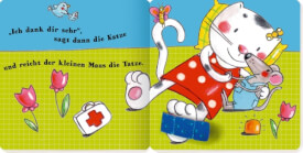 Miau ruft AU! - Mein Spielbuch mit Pflaster, Pappbilderbuch, 14 Seiten, ab 2 Jahren