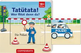 Mini-Pappe mit Schiebern: Tatütata! Wer flitzt denn da?