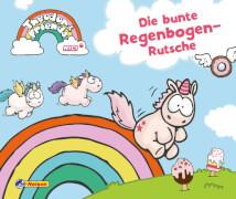 Theodor and Friends: Die bunte Regenbogen-Rutsche, Pappenbuch, 24 Seiten, ab 3 Jahren