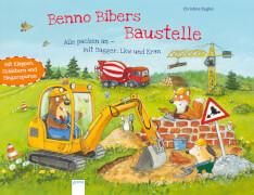 Kugler, Christine: Benno Bibers Baustelle  Alle packen an, mit Bagger, Lkw und