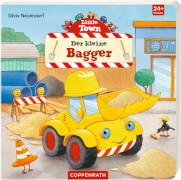 Little Town: Der kleine Bagger, Pappbilderbuch, 16 Seiten, ab 2 - 4 Jahre