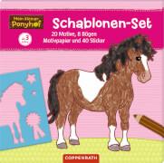 Mein kleiner Ponyhof: Schablonen-Set mit Stickerbögen