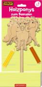 Holzponys zum Bemalen - Mein kleiner Ponyhof