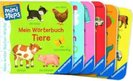 Ravensburger 31771 Bücher-Würfel, Bücher-Set: Wörter, 12+m