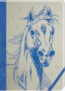 Meine Notizen (blau) - Notizbuch Pferdef
