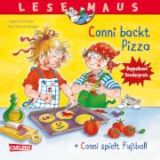 LESEMAUS 204: Conni backt Pizza + Conni spielt Fußball Conni Doppelband