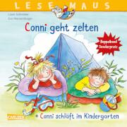 LESEMAUS 205: Conni geht zelten + Conni schläft im Kindergarten Conni Doppelband