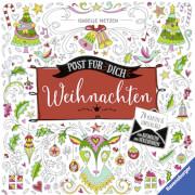 Ravensburger 55766 Post für dich! Weihnachten: 24 Karten und Umschläge zum Ausmalen