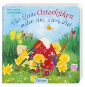 Vier kleine Osterküken malen eins, zwei, drei, Pappbilderbuch, 16 Seiten, ab 2 Jahren