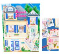 Depesche 6662 Create your Sweet Home - Malbuch mit Stickern