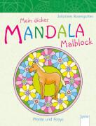 Mein Mandala-Malblock. Pferde