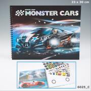 Depesche 6025 Create your Monster Cars - Malbuch mit vielen Stickern
