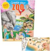 Depesche 7896 Create your ZOO - Malbuch mit  Stickern