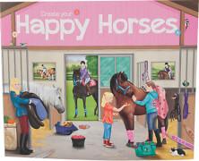 Depesche 4079 Create your Happy Horses - Malbuch mit Stickern