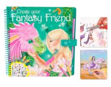 Depesche 7847 Create your Fantasy Friend - Malbuch mit Rubbelbildern