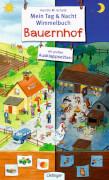 Tag und Nacht Wimmelbuch Bauernhof, Pappbilderbuch, 10 Seiten, ab 2 Jahren