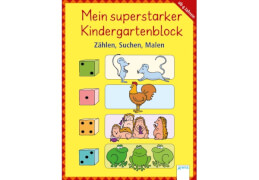 Arena - Mein superstarker Kindergartenblock. Zählen, Suchen, Malen. Taschenbuch, 8 Seiten, ab 0-2 Jahren. Schäfer, Carola.