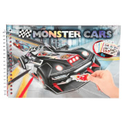 Depesche 6245 Monster Cars Pocket Malbuch