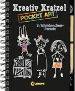 Loewe Kreativ-Kratzelbuch Pocket Strichmännchen-Parade
